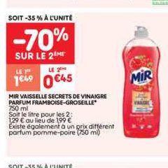 Liquide Vaisselle Mir chez Leader Price (19/11 – 24/11)