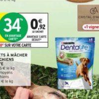 Snacks chiens Dentalife Purina chez Intermarché (19/11 – 01/12)