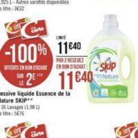 Lessive Liquide Essence de la Nature Skip chez Géant Casino (25/11 – 08/12)