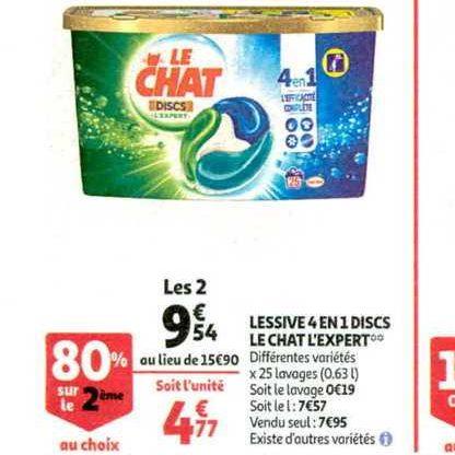 Lessive en Discs Le Chat chez Auchan (13/11 – 19/11)