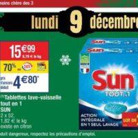 Tablettes Lave-Vaisselle Sun chez Cora (Le 09/12)
