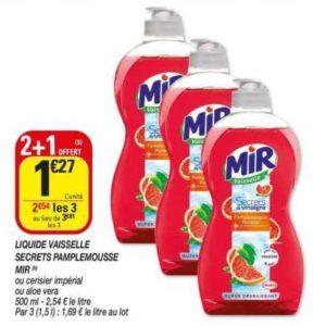 Liquide Vaisselle Mir chez Netto (19/11 – 24/11)