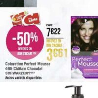 Coloration Perfect Mousse Schwarzkopf chez Géant Casino (02/12 – 15/12)