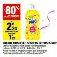 Liquide Vaisselle Mir chez Carrefour Market (12/11 – 24/11)