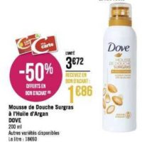 Mousse de Douche Dove chez Géant Casino (02/12 – 15/12)