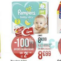 Couches Baby-dry Pampers chez Casino (25/11 – 08/12)