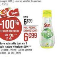 Gel Lave-vaisselle Sun chez Géant Casino (25/11 – 08/12)