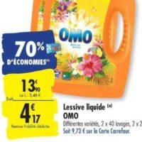 Lessive Liquide Omo chez Carrefour (26/11 – 02/12)