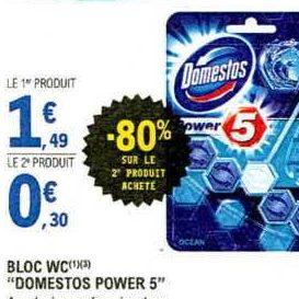 Bloc WC Domestos chez Leclerc Sud-Ouest (19/11 – 30/11)