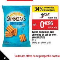 Biscuits Apéritif Sunbreaks chez Cora (19/11 – 25/11)
