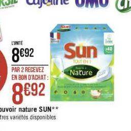 Tablettes Sun Pouvoir de la Nature chez Géant Casino (25/11 – 08/12)