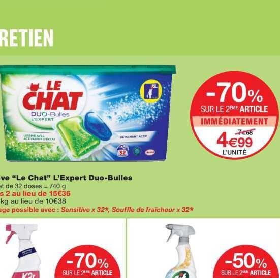 Lessive en Capsules Le Chat chez Monoprix (20/11 – 01/12)