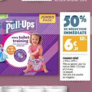 Culottes Pull-Ups Huggies chez Leclerc Nord-Est (03/12 – 07/12)