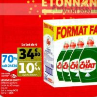 Lessive Liquide Le Chat chez Auchan (20/11 – 26/11)
