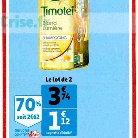 Shampoing Timotei chez Auchan (13/11 – 19/11)