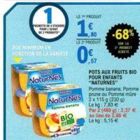 Naturnes fruits Nestlé Bébé chez Leclerc (13/11 – 23/11)