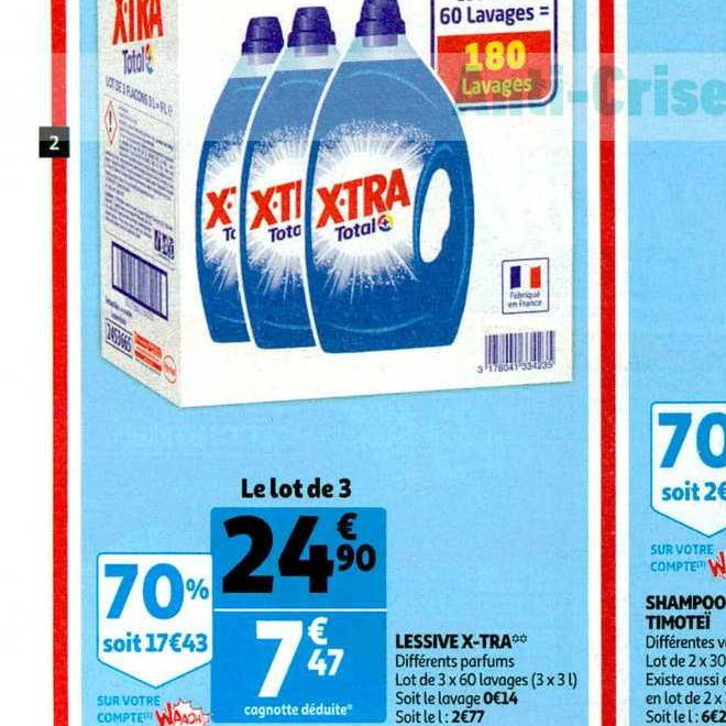 Lessive Liquide X-tra chez Auchan (13/11 – 19/11)