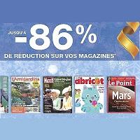 Jusqu'à -86% sur l'Abonnement à votre Magazine sur le Kiosque France Abonnements