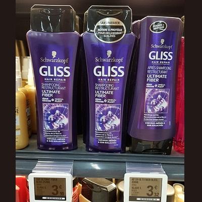 Shampoing ou Après-Shampoing Gliss chez Leclerc