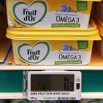 Margarine sans Huile de Palme Omega 3 Fruit d'Or Partout