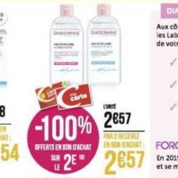 Lait Démaquillant Diadermine chez Géant Casino (02/12 – 15/12)