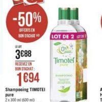 Shampoing Timotei chez Géant Casino (11/11 – 24/11)