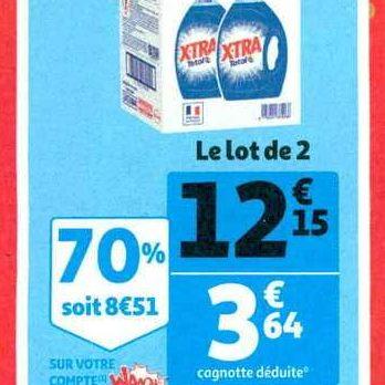 Lessive Liquide X-tra chez Auchan Supermarché (13/11 – 19/11)