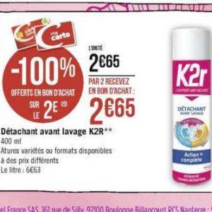 Détachant K2r chez Géant Casino (11/11 – 24/11)