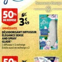 Diffuseur Elegance Sense & Spray Glade chez Auchan (20/11 – 26/11)