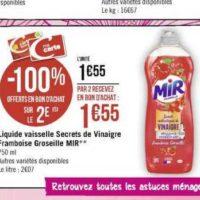 Liquide vaisselle Mir chez Géant Casino (11/11 – 24/11)