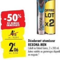 Déodorant Men Rexona chez Carrefour (19/11 – 02/12)