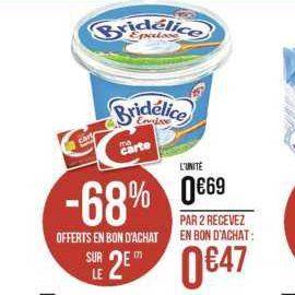Crème Fraîche Bridélice chez Casino (11/11 – 24/11)