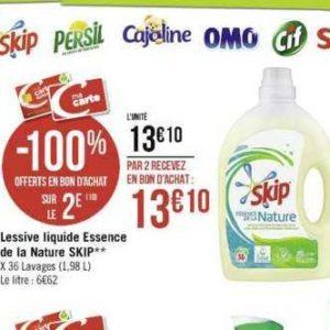 Lessive Liquide Essence de la Nature Skip chez Casino (25/11 – 08/12)