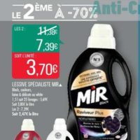 Lessive Liquide Mir chez Match (13/11 – 24/11)