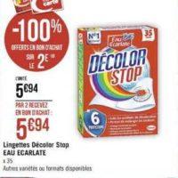 Lingettes Décolor Stop chez Casino (11/11 – 24/11)