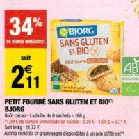 Biscuits Fourrés Bjorg chez Carrefour Market (12/11 – 24/11)