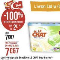 Lessive en capsules Le Chat chez Géant Casino (11/11 – 24/11)