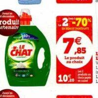 Lessive Liquide Le Chat chez Magasins U (03/12 – 14/12)