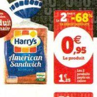 Pain American Sandwich Harrys chez Magasins U (03/12 – 14/12)
