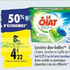 Lessive en capsules Le Chat chez Carrefour (12/11 – 18/11)