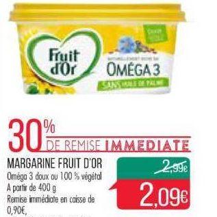 Margarine 100% Végétal Fruit d'Or chez Match (13/11 – 18/11)