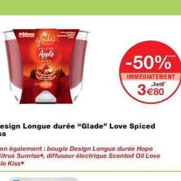 Bougie Longue Durée Glade chez Monoprix (20/11 – 01/12)
