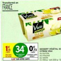Dessert végétal Vrai chez Intermarché (13/11 – 24/11)