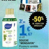 Gel Douche Monsavon chez Leclerc (13/11 – 23/11)