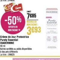 Crème Purely Essential Diadermine chez Géant Casino (02/12 – 15/12)