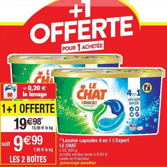Lessive en Discs Le Chat chez Cora (12/11 – 18/11)