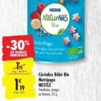 Céréales Naturnes Nestlé Bébé chez Carrefour (03/12 – 16/12)