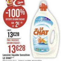 Lessive Liquide Le Chat chez Géant Casino (11/11 – 24/11)