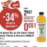 Thé Glacé Bio Honest chez Casino (11/11 – 24/11)
