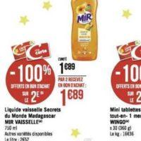 Liquide Vaisselle Mir chez Géant Casino (02/12 – 15/12)